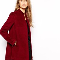 Supertrash Obsession Coat in Wool with Back Zip and Vent Detail