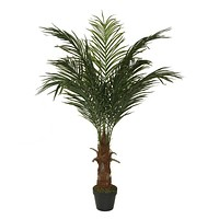 """47.25"""" Decorative Potted Artificial Brown and Green Phoenix Palm Tree"""