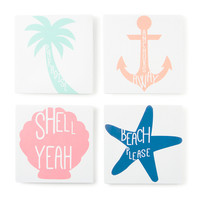Beach House Wall Canvases Set of 4