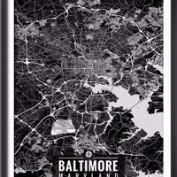 Baltimore Maryland Map with Coordinates