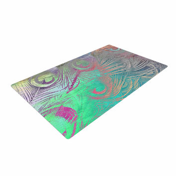 """Alison Coxon """" Indian Summer"""" Purple Teal Abstract Woven Area Rug"""