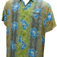 La Leela Multicoloured Beach Aloha Hawaiian Shirt For Mens