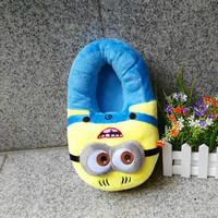 Despicable Me Minions Plush Stuffed Home Slippers