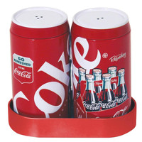 Coke Galvanized Salt & Pepper Shakers