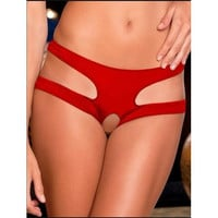 Women Sexy Hollow Out Panty Red