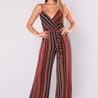 Seville Striped Jumpsuit - Multi