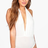 Petite Hannah Halterneck Backless Bodysuit