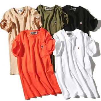 Round-neck Men Strong Character Casual Short Sleeve T-shirts [10277045319]