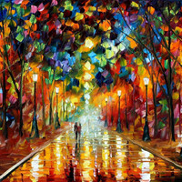 Farewell To Anger - oil painting by Leonid Afremov