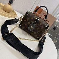 LV Louis Vuitton women's bag canvas box Single Shoulder Messenger Bag