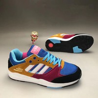 """""""Adidas"""" Unisex Sport Casual Multicolor Leather Stitching Retro Sneakers Couple Running Shoes"""