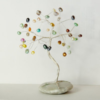 Multicolor Freshwater Pearls Wire tree,wire tree sculpture,wire tree of life,christmas tree,gem tree,beaded tree