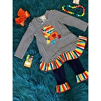 Back To School Colorful Fun Backpack Pant Set CL