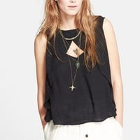Women's Free People 'Slubbed Out' Crinkle Top,