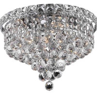 Karci - Flush Mount (4 Light Modern Flush Mount Crystal Chandelier) - 2149F12