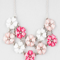 FULL TILT 2 Row Flower Statement Necklace | Necklaces