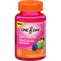Walmart: One A Day Teen for Her VitaCraves Multivitamin/Mineral Supplement Gummies, 60 count