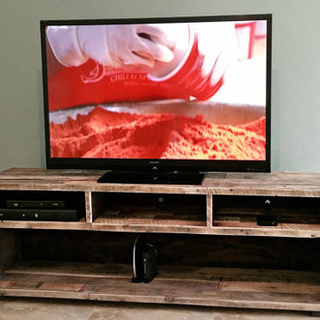 tv stand music media console center entertainment unit with rustic reclaimed wood beach house cabin