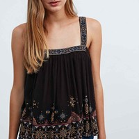 Ecote Baggers Tank in Black - Urban Outfitters