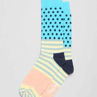 Happy Socks Stripes + Dot Sock- Coral One