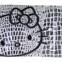 Hello Kitty Metallic Long Slim Wallet - SILVER