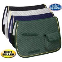 Derby Horse AP English Saddle Pad with Half Fleece and Pockets at Wholesale Price