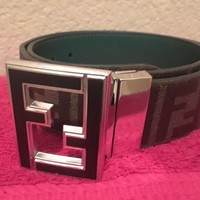 Men's FENDI Belt -Reversible FF Logo-