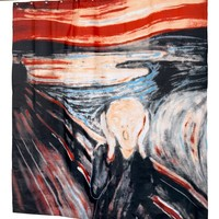 """The Scream"" Fabric Shower Curtain"