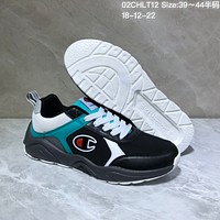 KUYOU C032 Champion 93 Eighteen Sneaker Ratro Casual Running Shoes Black White Blue