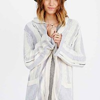 Chaser Bell-Sleeve Hooded Sweater- Ivory