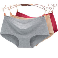 2016 New Hot Sexy Seamless Panties Underwear Women Cute Boyshort Cotton Spandex Panty Briefs Pink Red 11 Color and Size M L XL