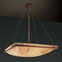 Justice Design Group FAL-9797-25-DBRZ LumenAria 48-Inch Square Bowl Pendant with Ring