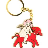 Lolly Dolly And The Devil Lamb Keychain