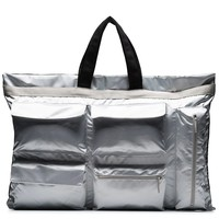 Metallic Silver Tote Bag by Raf Simons x Eastpak