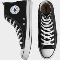 Converse Black Canvas High-Top Tennis Shoes - null   Men's Wearhouse