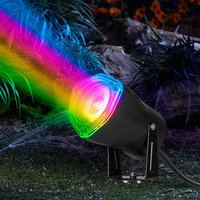 LED Black Spot Light w/Switch-Color Changing-Outdoor Strobing