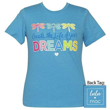 Girlie Girl Lulu Mac Preppy Create Life Dragonflies T-Shirt