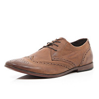 River Island MensBrown lace up brogues