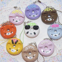Animal Doughnut Charm-Squishy-Kawaii-Charm-Phone Accessories-Key Chain Charm-Animal Charms