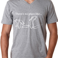 There's No Place Like The Great Lakes (V-Neck) - Lake4Life - Promoting and preserving the Great Lakes lifestyle