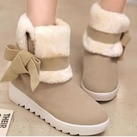 Explosive waterproof, non-slip and velvet thick-soled short-tube two-wear snow boots shoeshoes
