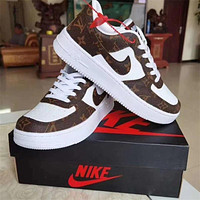 LV x Nike  Air Force 1 Louis Vuitton AF1 Low-Top Men's and Women's Sneakers Shoes
