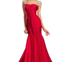 eDressit New Fitted Red Prom Dress (00131002)