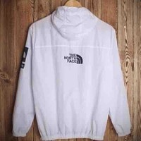 "Hot Sale ""The North Face"" Stylish Unisex Print Hoodie Zipper Jacket Coat Windbreaker Outwear White"