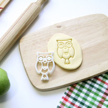 Owl Cookie Cutter Animal Cute Cookie Cutter Cupcake topper Fondant Gingerbread Cutters - Made from Eco Friendly Material