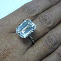 15.75ct Emerald Cut Diamond Engagement Ring GIA certified Loose Diamond JEWELFORME BLUE