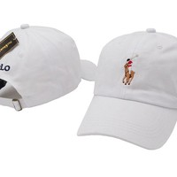 Whie Polo Baseball Cap Hat