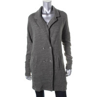 Free People Womens Knit Double-Breasted Sweatercoat