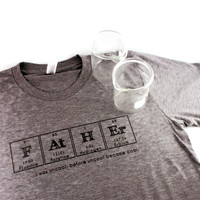 Father Dad Shirt Hipster Breaking Bad Uncool Green Gray Periodic Table Chemistry Science Nerd Geek Tshirt