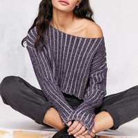 Silence + Noise Kylie Ribbed Crop Sweater - Urban Outfitters